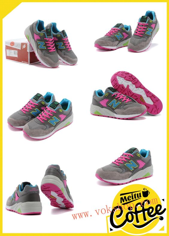 2014 new cheap New Balance 580-4 Mens&Womens Gray pink shoes for sale$50 size us5.5-us10