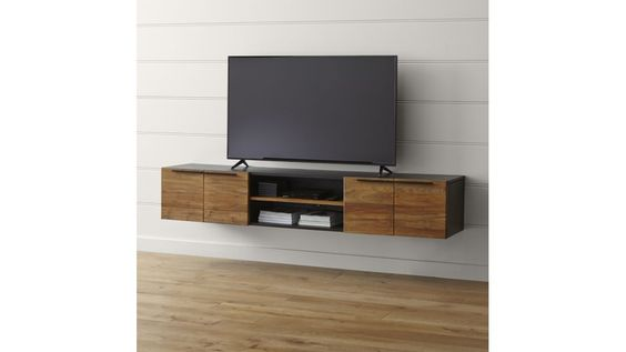 Rigby 80 5 Quot Large Floating Media Console Medium Crate