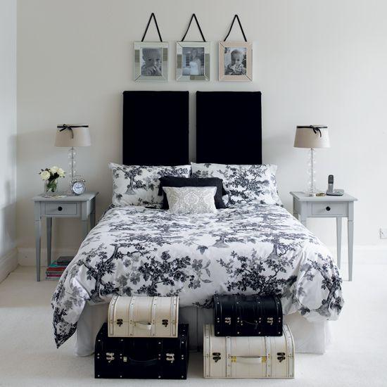 Very pretty b&w room. :)