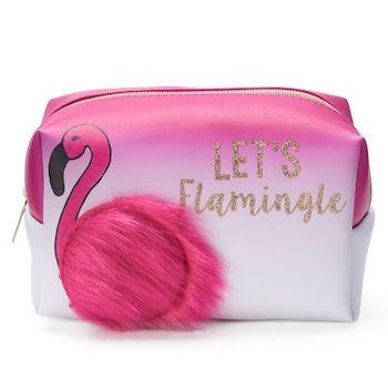 Jade Deer Flamingo Loaf Cosmetic Bag Flamingos Bolsos Estuche Escolares
