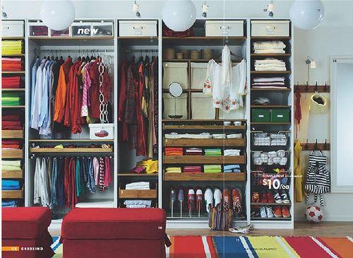 Pax closet organization idea