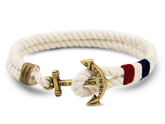 American Yacht - Kiel James Patrick Anchor Bracelet Made in the USA