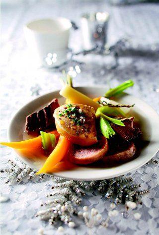Pot-au-feu de Noël au foie gras