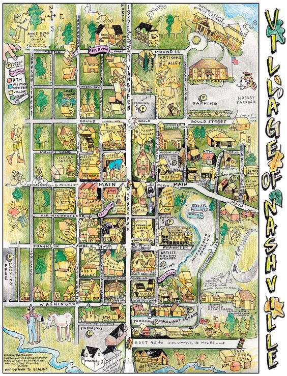 Love Cartoon Cartographykarla Barnard39s Map Available