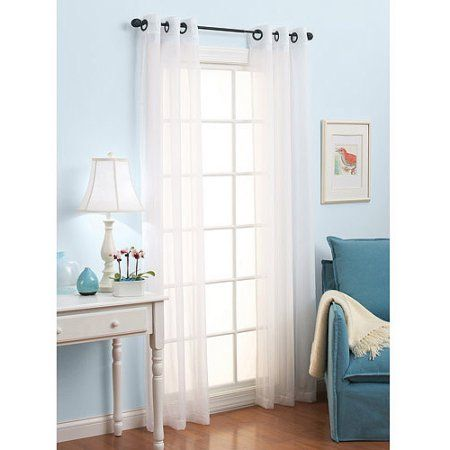 Long Curtains 94 inch long curtains : Better Homes and Gardens Solid Voile Sheer 84 inch Length Grommet ...