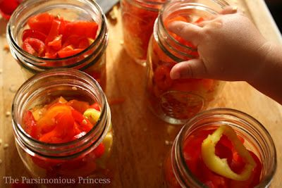 The Parsimonious Princess: Pack a Peck (or at least a few pints) of Sweet Pickled Peppers