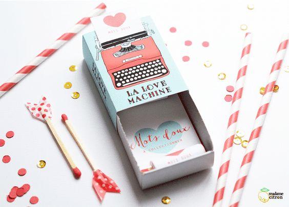 Máquina del amor, con imprimible gratuito para San Valentín: