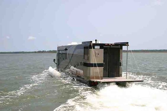 Motor Coach and Yacht! Terra Wind's Luxurious Amphibious Vehicle