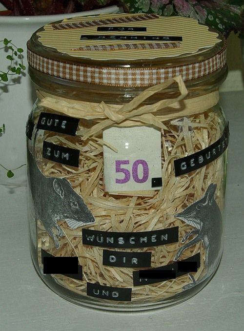 Geldgeschenk im glas geldgeschenke pinterest for Jugendweihe geschenke basteln