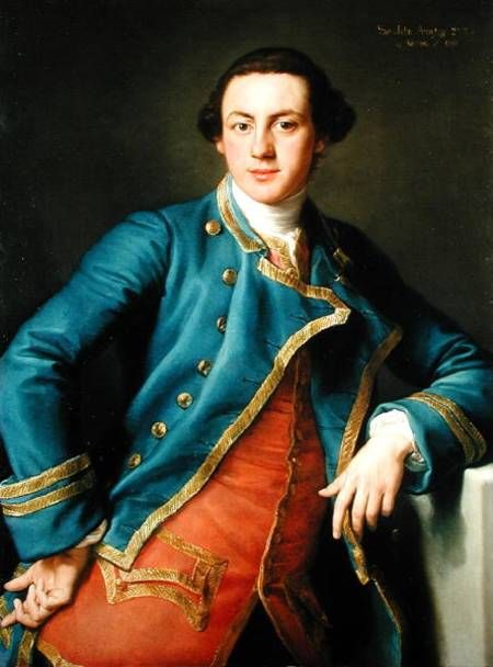 This attractive gent perfectly encapsulates the Hellraisers. Handsome. Rich. Looking for trouble.  Sir John Armytage, 2nd Baronet by Pompeo Batoni, 1758