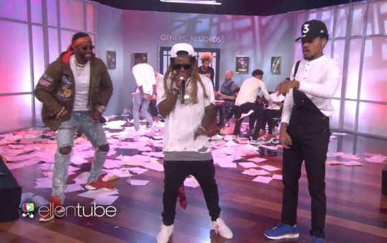 Chance The Rapper ft. Lil Wayne & 2 Chainz – No Problem (Live on Ellen)