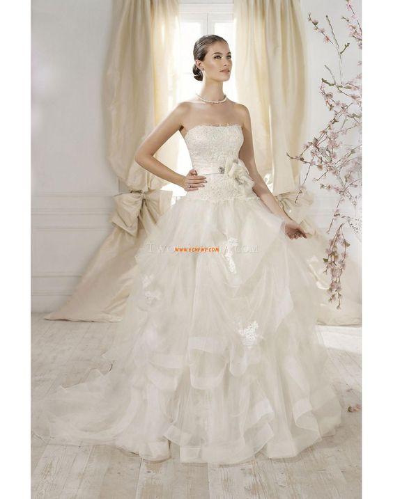 Stile Principessa Fiori Naturale Abiti Da Sposa 2014