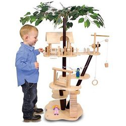 Melissa & Doug Classic Wooden Tree House Set | Overstock.com Shopping - Big Discounts on Melissa and Doug Play Sets: