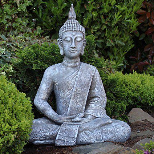Grande Statue De Bouddha Assis De 65cm Sculpture De Decoration