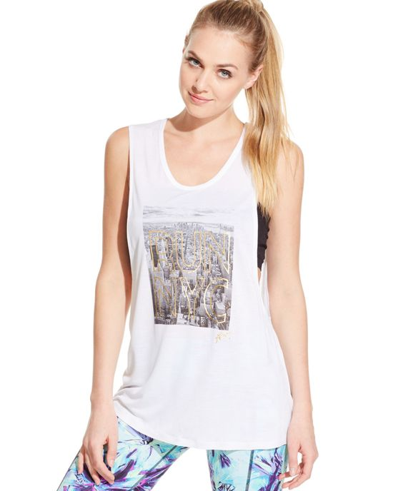 Betsey Johnson Graphic-Print Muscle Tank Top