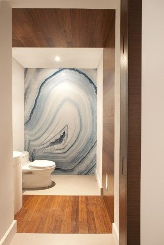 agate / malachite in the bathroom