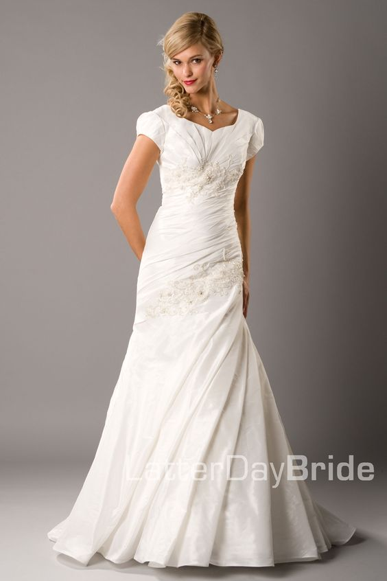 Pinterest the world s catalog of ideas for Mormon temple wedding dresses