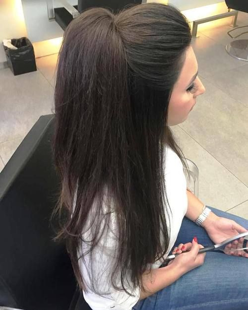 Half Up Ponytail For Straight Hair Hairstyles Long