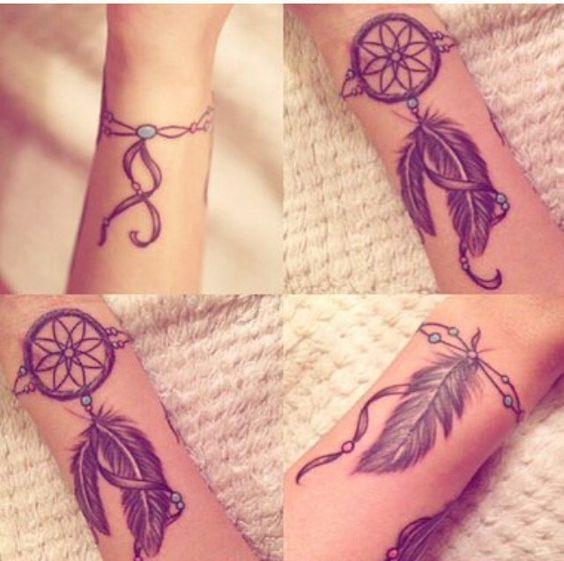 tattoo,love,cool,beautiful,plumes,tatouage,dreamcatcher