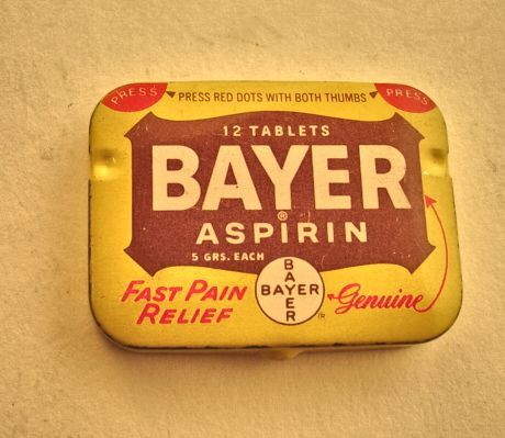 Vintage bayer aspirin labels