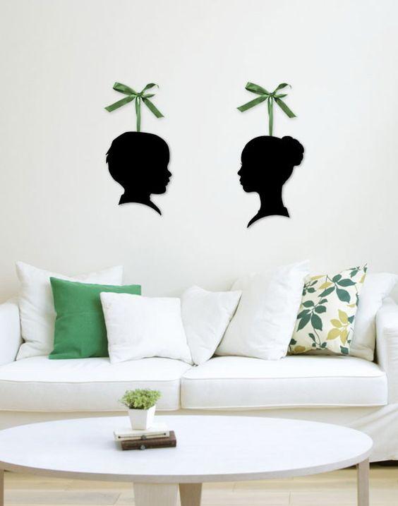 Custom Acrylic Silhouette Wall Art-  Preppy & Pink
