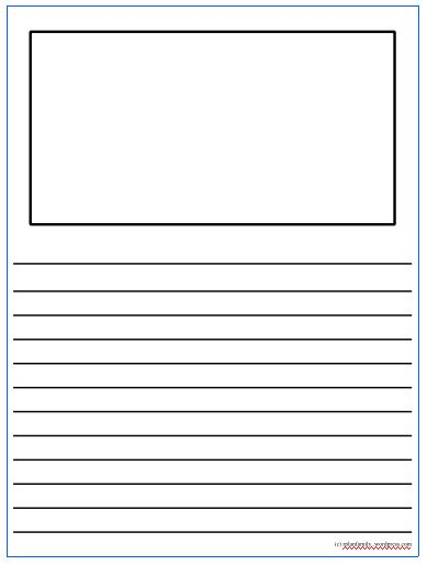... printables on pinterest : Printable Writing Paper Template Elementary