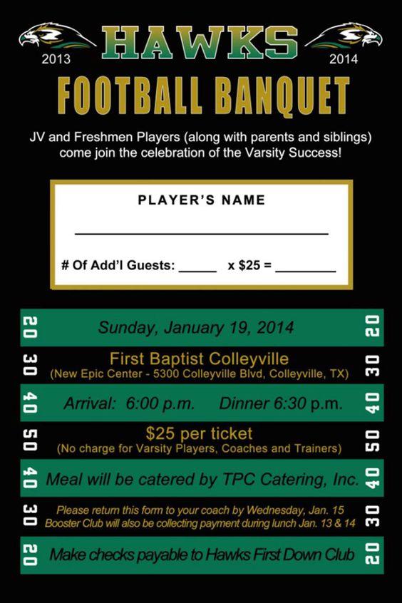 high school football banquet invitations  u2026
