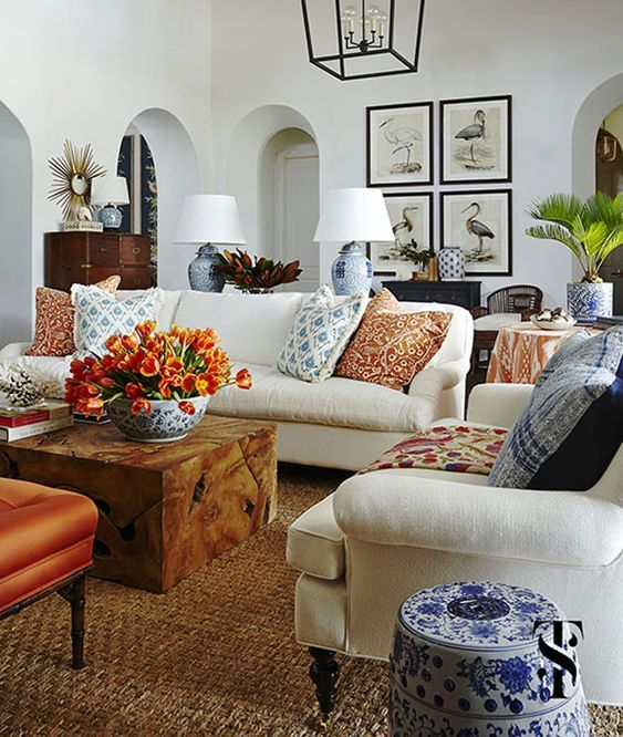 20 Times When Orange Was The Best Choice Ever South Shore Decorating Blog Farm House Living Room Neutral Living Room Farmhouse Decor Living Room