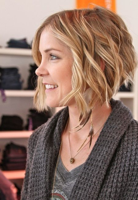 Incredible Bobs Wavy Bobs And Curly Hair On Pinterest Hairstyles For Women Draintrainus