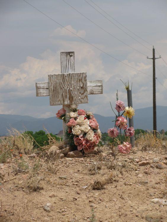 New Mexico roadside cross: