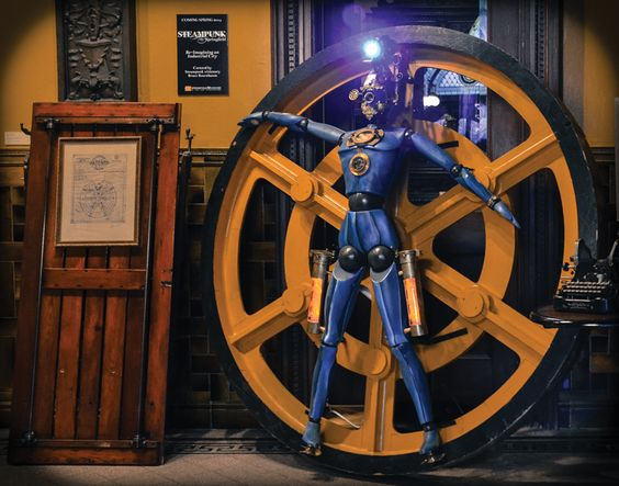 Jules Verne Humachine by Bruce Rosenbaum. The first of 12 signature pieces by a select group of artists. | Steampunk Springfield: Re-Imagining an Industrial City