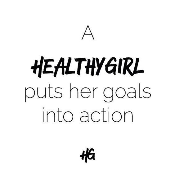 What can you do today to start your journey towards your happiest, healthiest, most energised life? Set goals and kick their butt! #healthygirl rules.