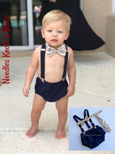 1st birthday outfit.Handmade Baby boys Nautical smash cake set Cake smash boy