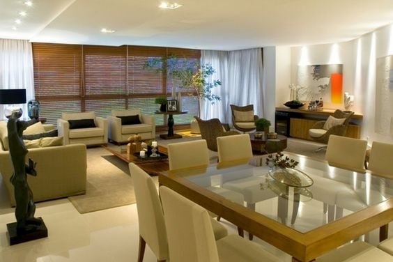 sala de estar e jantar conjugadas - Bing Imagens