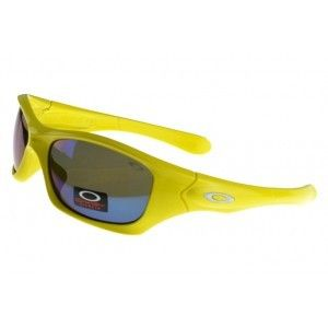 cheap oakley pit bull sunglasses yellow frame purple lens outlet on sale