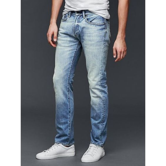 Gap Men STRETCH 1969 Slim Fit Jeans ($70) ❤ liked on Polyvore ...
