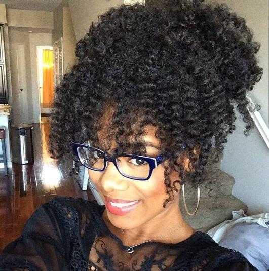 Natural hair, curly hair, African American hair, black hair: