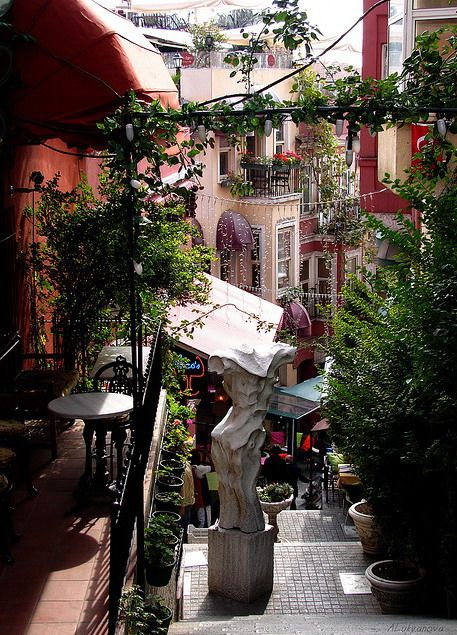 El antiguo barrio francés, Estambul, Turquía