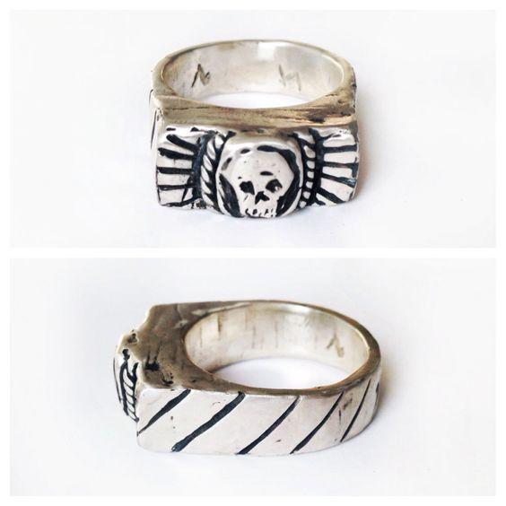 1945 Skull Signet Ring
