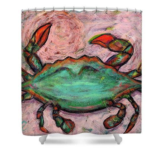 Colorful Crab shower curtain   Bath   Pinterest