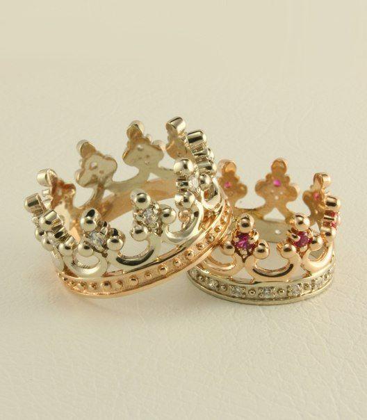 Crown Wedding Ring Set Royal Wedding Rings Women Crown Ring Men Crown Band Couple Wedding Band Crown Wedding Ring Wedding Rings Sets Gold Wedding Ring Sets