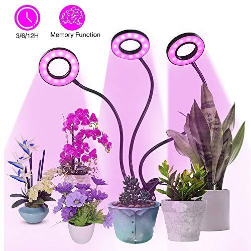 Lampe De Plantetomshine 54 Led 27w Lampe De Croissance A 3 Tetes 360 Eclairage Horticole3 Modes De Luminosite 5 Niveaux Dimmables 3 M En 2020 Lampes De Serre Lamp Led