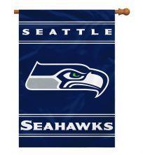 Seattle Seahawks NFL Team Logo 2-Sided 28 X 40 House Banner