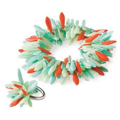 Howard Fringe Bracelet and Petal Ring | SouthernLiving.com