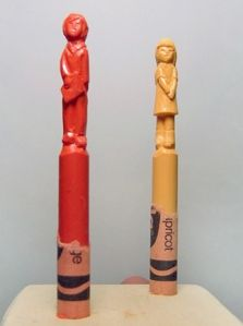 Crayola Crayon Sculpture by Diem Chau