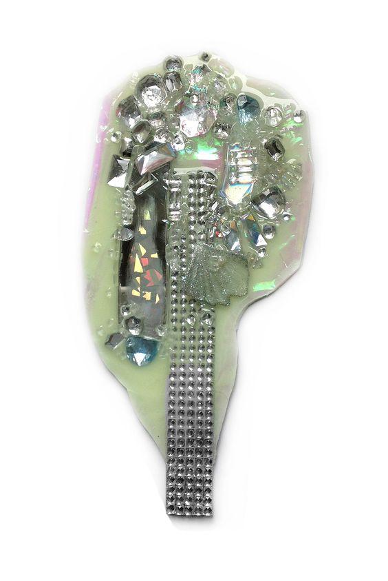 Nikki Couppee, Glow Brooch, 2016, Plexiglass, brass, sterling silver, fine silver, film: