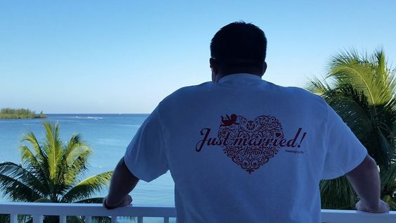 Just Married....sporting the t-shirt!!!