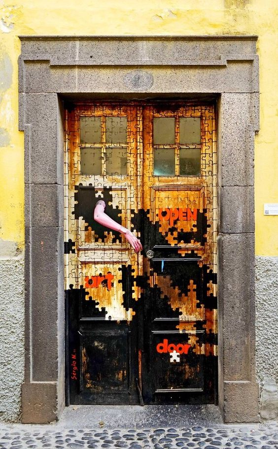 Door in Funchal, Madeira, Portugal