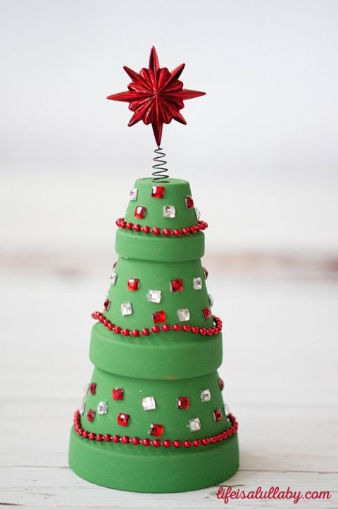 How to g home crafts and holiday crafts on pinterest for Christmas tree decorations you can make at home