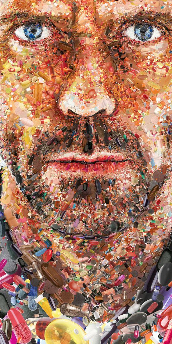 Mosaic Portraits by Charis Tsevis